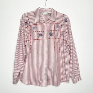 NAPA VALLEY Vintage Embroidered Button Down Shirt